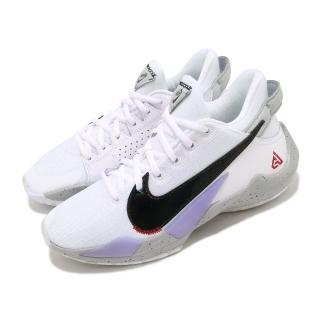 【NIKE 耐吉】籃球鞋 Freak 2 運動 女鞋 避震 包覆 字母哥 球鞋 大童 穿搭 白 黑(CN8574-100)