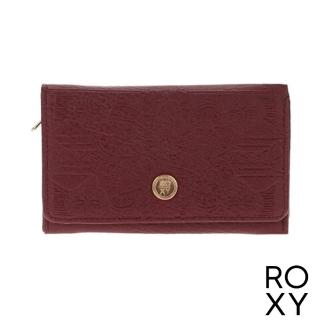 【ROXY】女款 配件 皮夾 CRAZY DIAMOND(暗紅)