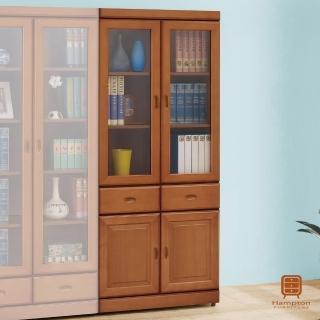 【Hampton 漢汀堡】朱恩樟木色中抽書櫥(一般地區免運費/書櫃/櫥櫃/收納櫃/置物櫃)