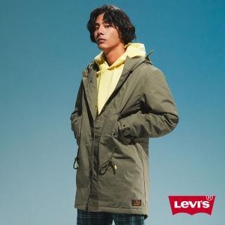 【LEVIS】男款 長版軍裝絨毛外套 / 滑板系列 / 腰間抽繩-人氣新品