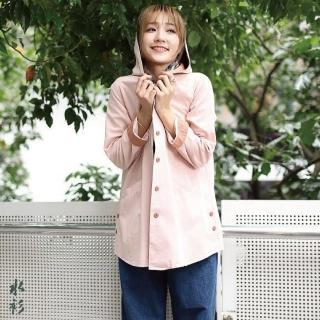 【水衫】純棉縮腰連帽造型外套二件組(H09-51)