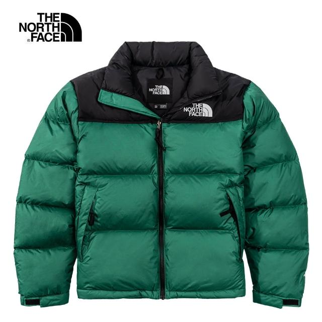 【The North Face】經典ICON-The North Face北面男款綠色防潑水羽絨外套|3C8DNL1
