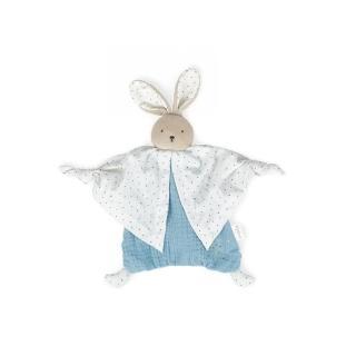 【KALOO】Kaloo Organic 有機棉兔兔安撫巾(冰沙藍)