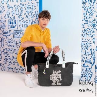 【KIPLING】Kipling x Keith Haring 限量聯名系列粉筆藝術手提側背包-ART M