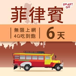 【TEL25】菲律賓網卡上網卡 6日 4G上網 吃到飽上網SIM卡(不限流量 插卡即用)