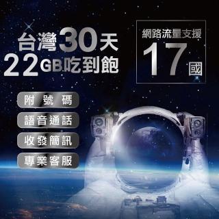 【領航商務卡】台灣網卡上網卡 30日 支援17國  4G高速上網 吃到飽上網SIM卡(可通話.可收發簡訊.附號碼)