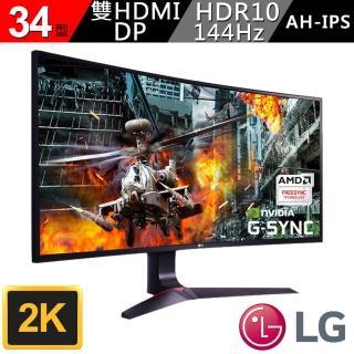 【LG 樂金】拆封良品 34型 21:9 AH-IPS 2K曲面支援HDR液晶顯示器(34GL750-B)