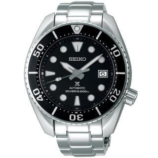 【SEIKO 精工】PROSPEXE 廣告款黑水鬼200米潛水機械錶(6R35-00A0D/SPB101J1)