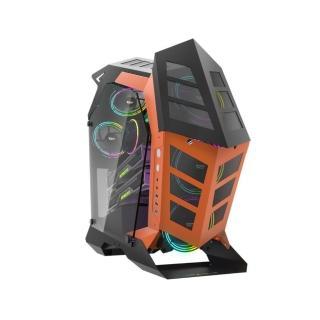 【darkFlash】K1異形機箱/電腦機殼-黑橘色 不含風扇(DF01-0010/GPU:330mm/CPU:155mm)
