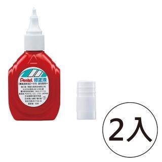 【Pentel 飛龍】ZLM1萬能速乾型修正液 紅(2入1包)