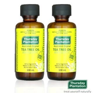 【星期四農莊】澳洲茶樹精油100mlX2(附滴管全配盒裝