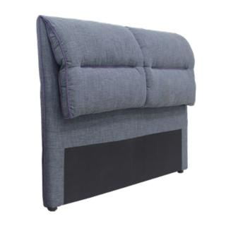 【AT HOME】現代簡約5尺灰藍色布質雙人床頭片(艾德琳)