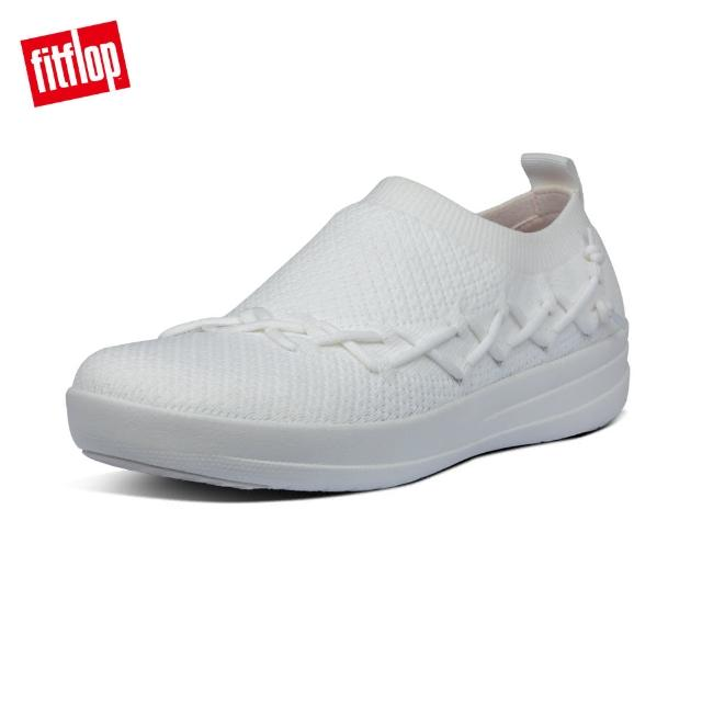 【FitFlop】CORSETTED SLIP-ON SNEAKERS 襪套包覆式休閒鞋-女(都會白)