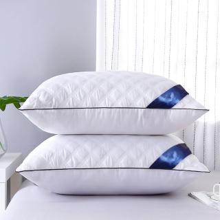 【Pure One】買一送一 七星飯店菱格紋 羽絲絨枕(枕頭 送收納六件組)