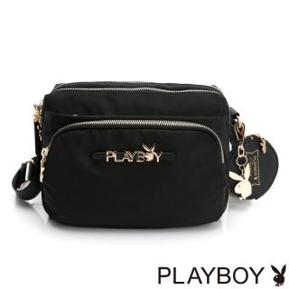 【PLAYBOY】多層斜背包  Function系列(黑色)
