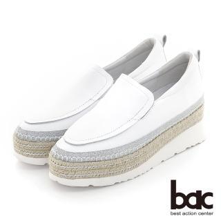 【bac】多層厚底台懶人休閒鞋(白色)