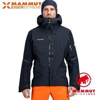 【Mammut 長毛象】Nordwand Pro HS Hooded Jacket Men 極限艾格防風防水連帽外套 夜藍 男款 #1010-28050