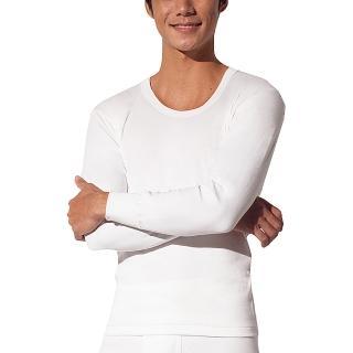【三槍牌】精典時尚型男雙層純棉U領長袖衛生衣2件組(白色M-XL)