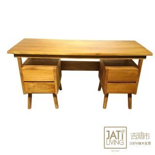 【吉迪市柚木家具】柚木簡約四抽書桌 RPDE005(工作桌 桌子 餐桌 書房)