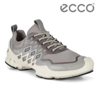 【ecco】BIOM AEX W 健步探索戶外運動鞋 女鞋(優雅灰 80282352128)