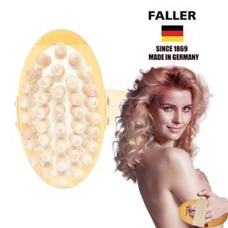 【FALLER 芙樂】德國製FSC原木大珠珠深層按摩刷(讓天然木珠放鬆每吋肌膚)