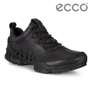 【ecco】BIOM AEX W 健步探索戶外防水運動鞋 女鞋(黑色 80283301001)