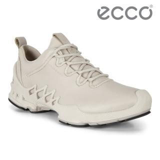 【ecco】BIOM AEX W 健步探索戶外防水運動鞋 女鞋(砂礫色 80283301163)