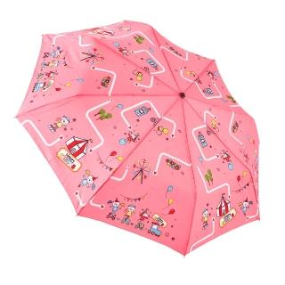 【rainstory】歡樂馬戲團-粉抗UV加大自動傘