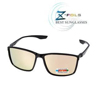 【Z-POLS】TR90輕量框體材質 搭REVO電鍍橘紅Polarized寶麗來偏光抗UV400太陽眼鏡(名牌風格好看有型)