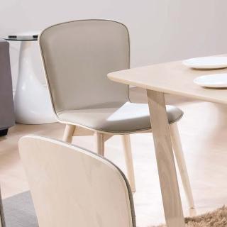 【H&D】喬克洗白淺咖啡皮餐椅(餐椅
