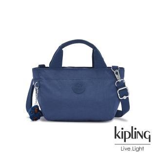 【KIPLING】優雅天穹藍手提兩用斜背包-SUGAR S II
