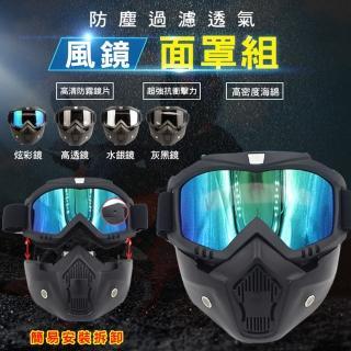 防塵過濾透氣風鏡面罩組