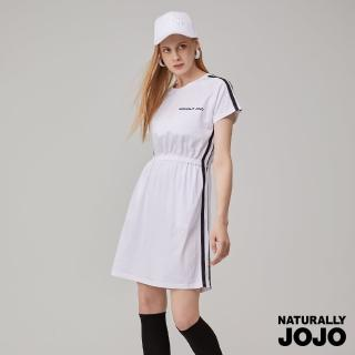 【NATURALLY JOJO】落肩雙織帶洋裝