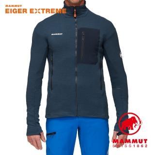 【Mammut 長毛象】Eiswand Guide ML Jacket Men 艾格保暖立領中層外套 夜藍 男款 #1014-02350