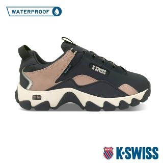【K-SWISS】戶外運動防水鞋 Cali Trail WP-女-藍/乾燥玫瑰(96967-219)