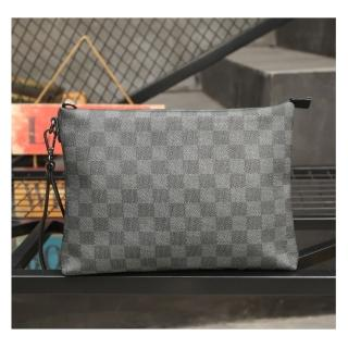 【布童帆想】2020男士PU皮革格紋簡約手拿包(商務包)