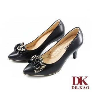 【DK 高博士】知性優雅 蝴蝶結 氣墊高跟鞋 71-0073-90(黑色)