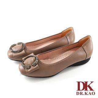 【DK 高博士】C字金屬扣飾 氣墊平底 娃娃鞋 71-0068-21(芋粉)