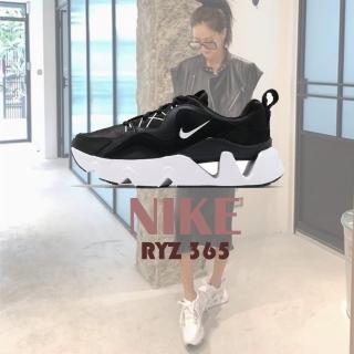 【NIKE 耐吉】老爹鞋 W RYZ 365 厚底 休閒 女鞋 網美 穿搭鞋 流行 鏤空  麂皮 皮革 黑 白(BQ4153-003)
