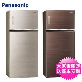 【送1千元商品卡+砧板陶瓷刀★Panasonic 國際牌】650L一級能效雙門變頻環保電冰箱(NR-B659TG)