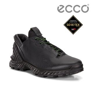 【ecco】EXOHIKE M 攀越戶外運動鞋 男鞋(黑色 84070401001)