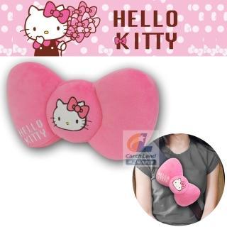 【HELLO KITTY】凱蒂貓 KT蝴蝶結系列- 安全帶護枕-大(PKTD008W-02)