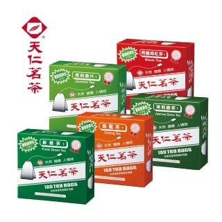 【天仁茗茶】天仁經濟包袋茶100入(鮮綠茶/烏龍茶/阿薩姆紅茶/茉莉綠茶/茉莉香片)
