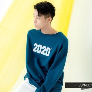 【H:CONNECT】韓國品牌 男裝 -簡約刺繡數字上衣(藍色)