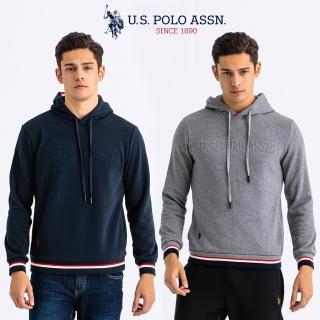 【U.S. POLO ASSN.】三線刷毛連帽衣(3色任選)