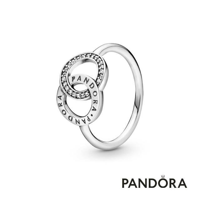 【Pandora官方直營】雙圓相扣戒指/