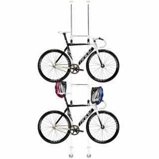 【巴塞隆納】BY-02-01頂天立地自行車架 立車架 單車架 腳踏車架防刮(可掛2台單車)