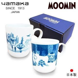 【日本山加yamaka】moomin嚕嚕米彩繪陶瓷馬克杯禮盒2入組(MM2700-13)
