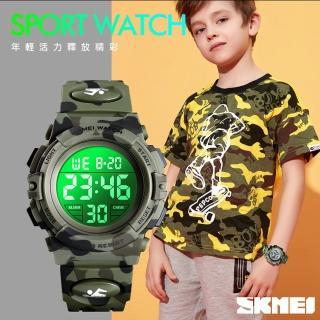 【SKMEI 時刻美】LED七彩多功能防水電子錶(1548)