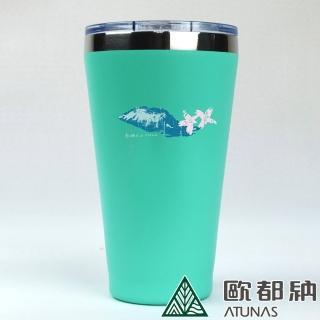 【ATUNAS 歐都納】南湖大山不銹鋼雙層真空斷熱隨行杯450ml(A6-K1907水藍/戶外野餐/露營/無毒/保冰/保溫)